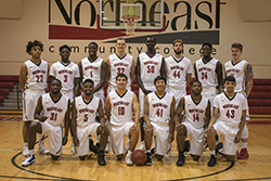Northeast men's basketball nets win over Highland before break
