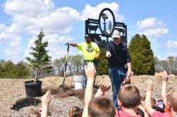 Northeast hosts area kindergartners to celebrate Arbor Day