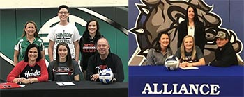 Northeast signs two volleyball recruits