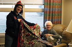 Northeast's Student Leadership Association brings holiday cheer to Veterans Home