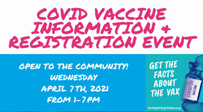 Northeast and community partners to host second COVID vaccine information event