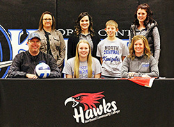 Bassett's Orton signs to play volleyball for Northeast