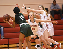 Strong start lifts Hawks women's basketball over Central, 89-54