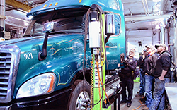 Diesel technology students meet with carrier enforcement officers