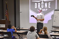 Children learn about drones at Northeast in So. Sioux City