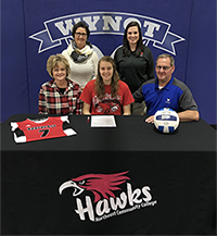 Wynot standout to play volleyball at Northeast
