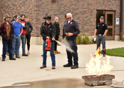 Fire extinguisher training at Northeast