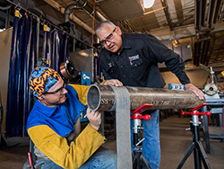 Northeast instructor earns recognition from American Welding Society