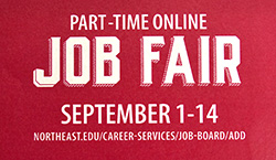 Northeast to host online part-time job fair in September
