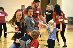 Northeast students learn during children's playtime
