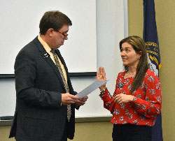 Robinson sworn in following reelection to Northeast board
