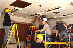 Electrical students shed light on senior citizens center project