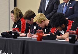 Students sign letters of intent to enroll in CTE programs at Northeast
