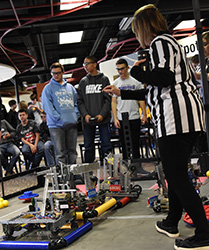 High school students compete in Northeast robotics competition