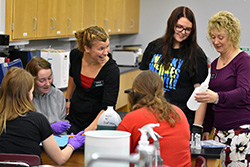 Math class at Northeast offers hands-on experience for vet tech students