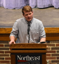 Wheeler speaks at Northeast visiting writer's event